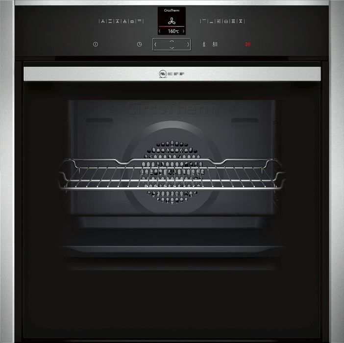 Neff N70 B57CR22N0B Slide&Hide Built-in Single Electric Oven in Stainless Steel/Black
