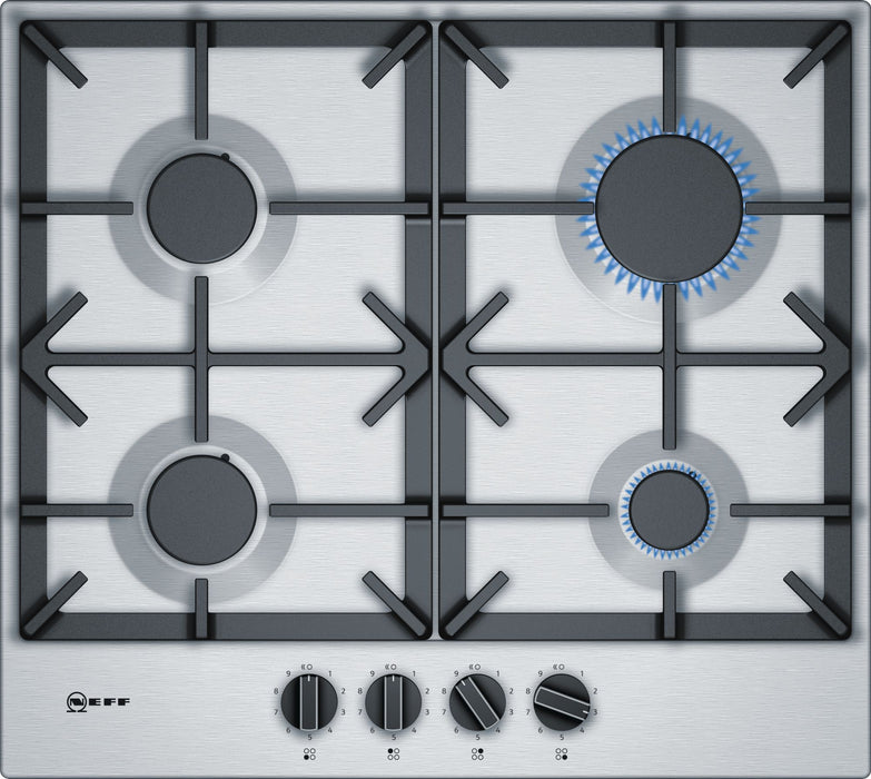 Neff N70 T26DS59N0 58cm Gas Hob in Stainless Steel