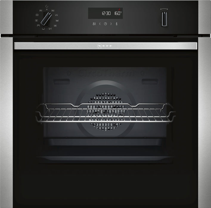 Neff N50 B2ACH7HN0B Built-in Single Electric Oven in Stainless Steel/Black