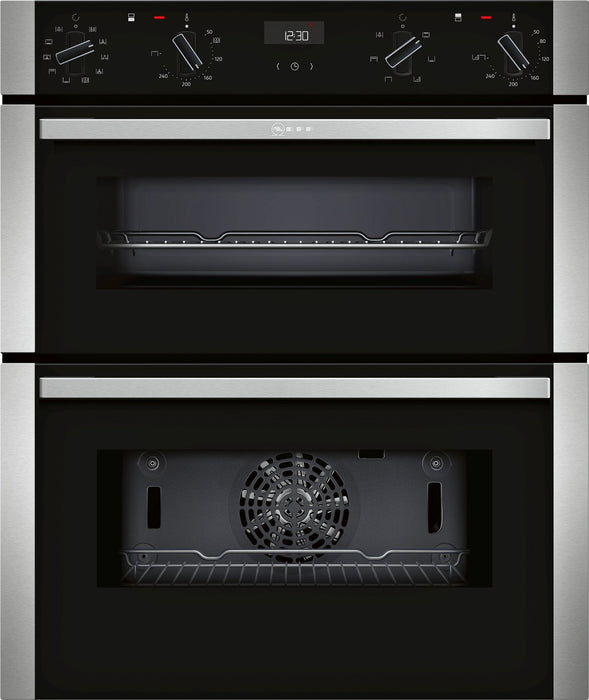 Neff N50 J1ACE4HN0B Built Under Double Electric Oven in Stainless Steel