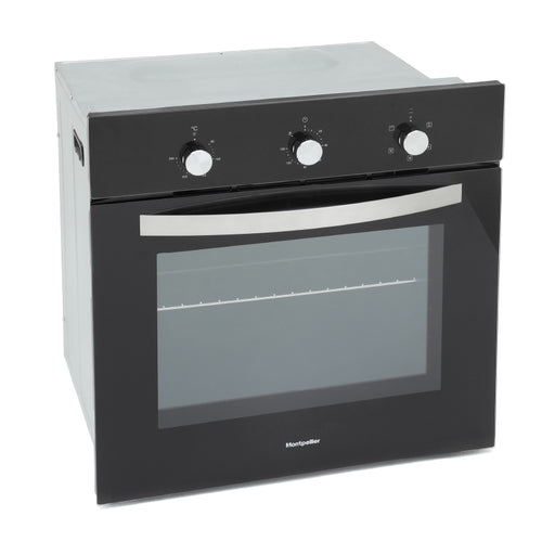 Montpellier SBFO59B Built-in Single Electric Oven in Black