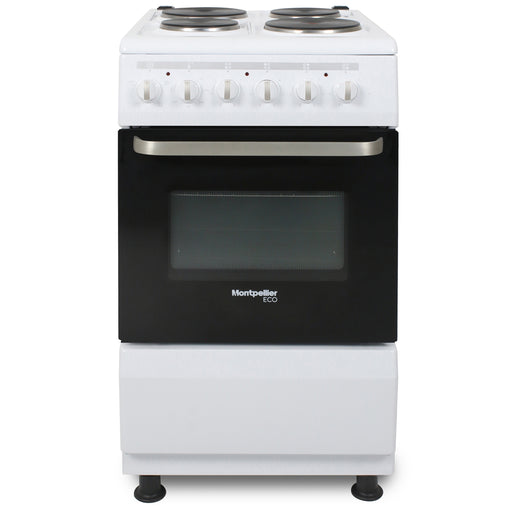 Montpellier Eco SCE50W 50cm Single Cavity Electric Cooker in White