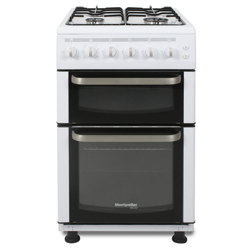 Montpellier Eco TCG50W 50cm Twin Cavity Gas Cooker in White