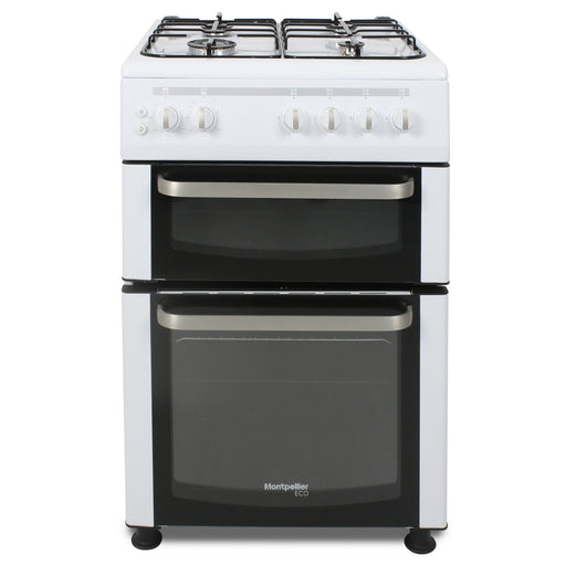 Montpellier Eco TCG60W 60cm Twin Cavity Gas Cooker in White