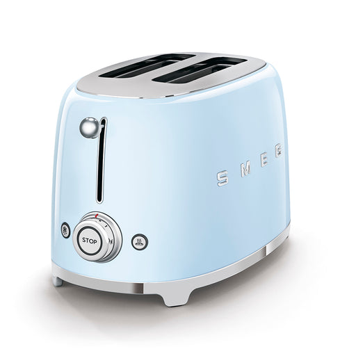 Smeg TSF01PBUK 50's Retro 2 Slice Toaster in Pastel Blue