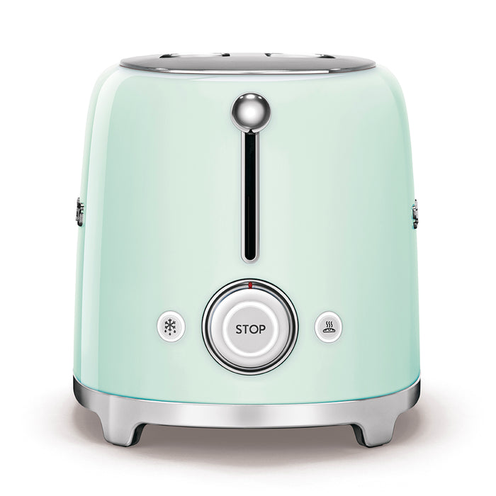 Smeg TSF01PGUK 50's Retro 2 Slice Toaster in Pastel Green