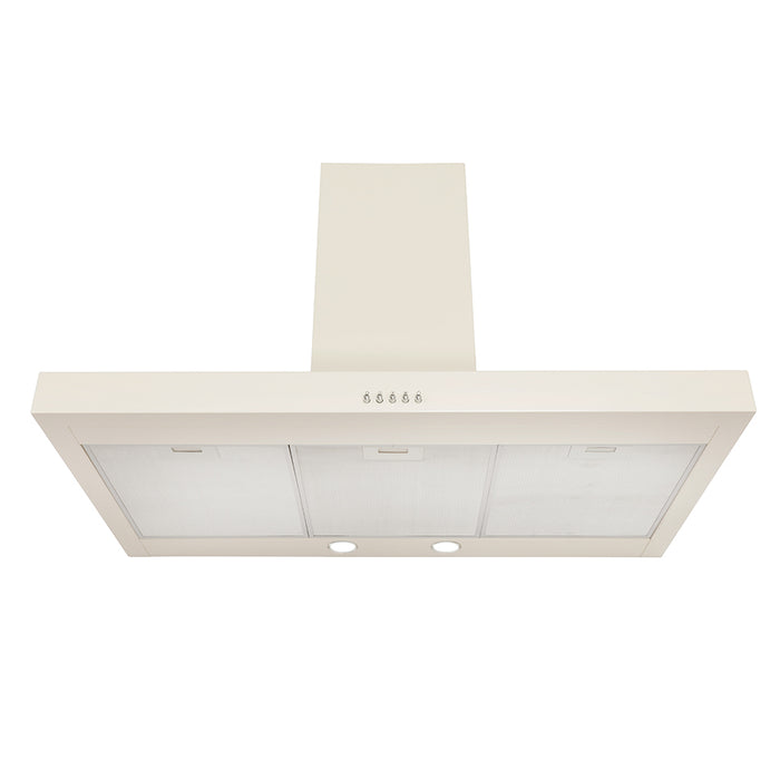 Montpellier CHT991CR 90cm T-Shaped Hood in Cream