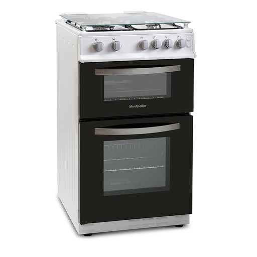 Montpellier MTG50LW 50cm Twin Cavity Gas Cooker in White