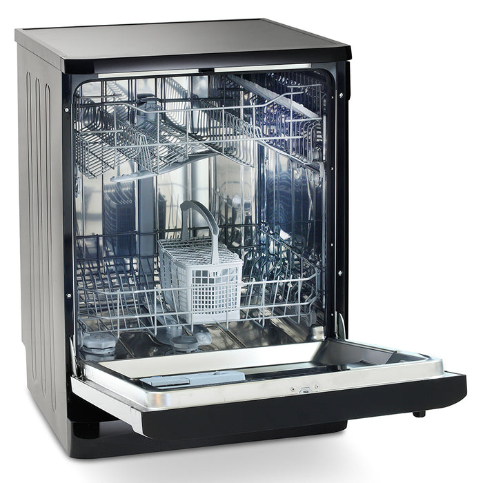 Montpellier DW1254K Fullsize 12 Place Settings A++ Dishwasher in Black