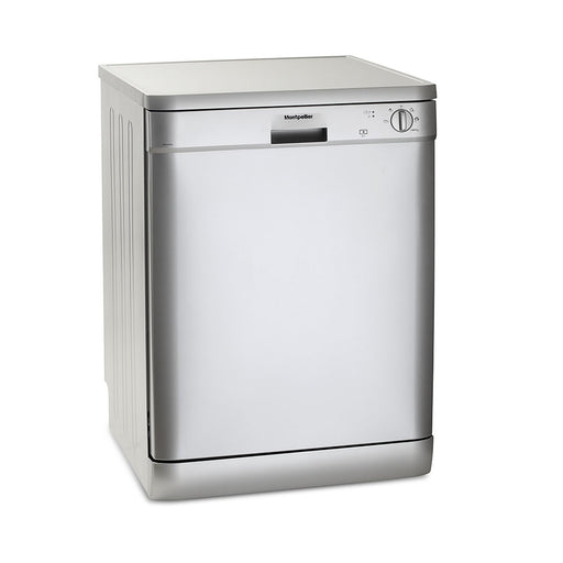 Montpellier DW1255S 60cm Freestanding Dishwasher in Silver