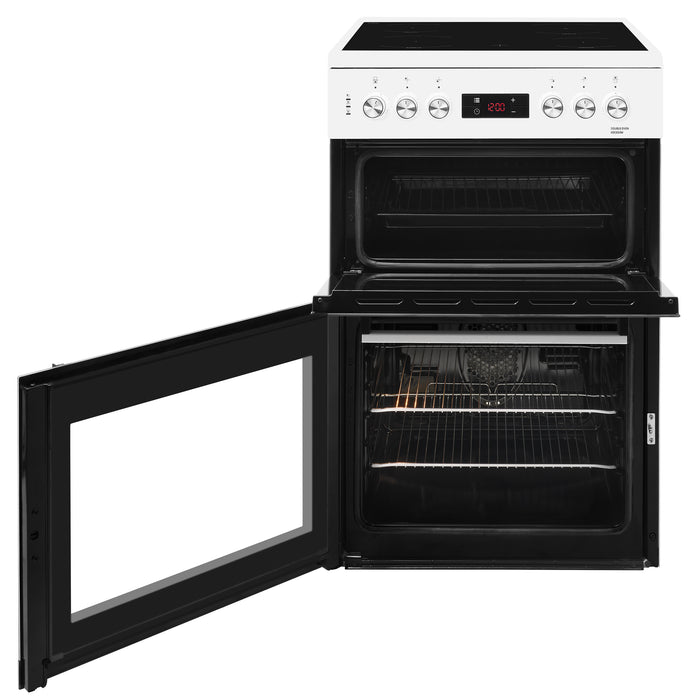 Beko KDC653W 60cm Double Oven Ceramic Electric Cooker in White