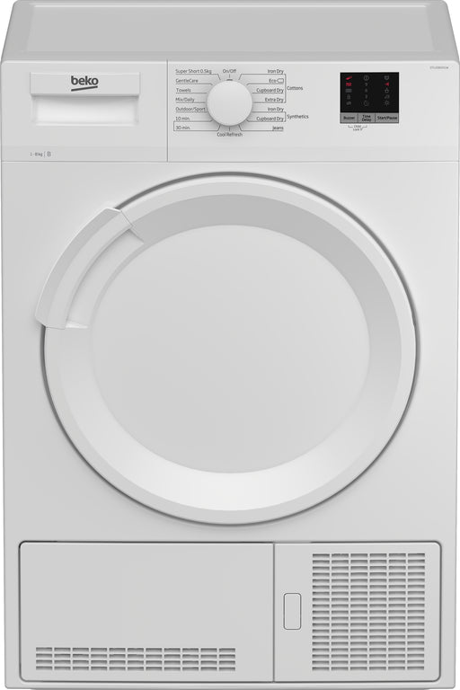 Beko DTLCE80051W 8kg B Rated Condenser Dryer in White