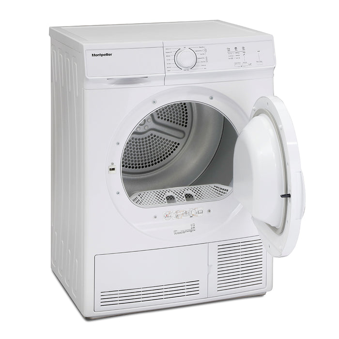 Montpellier MCD7W 7kg Condenser Sensor Tumble Dryer in White