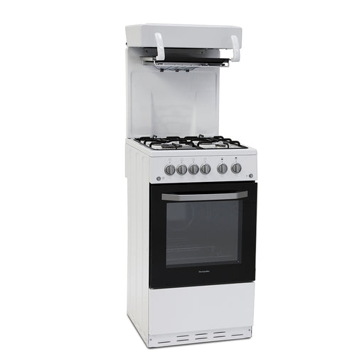 Montpellier MEL50W 50cm Eye Level Grill Gas Cooker in White