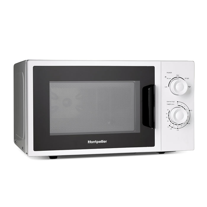Montpellier MMW22WS 20ltrs 700w Solo Microwave in White
