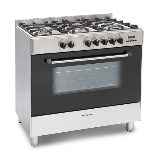 Montpellier MR91DFMX 90cm Dual Fuel Range Cooker in Stainless Steel