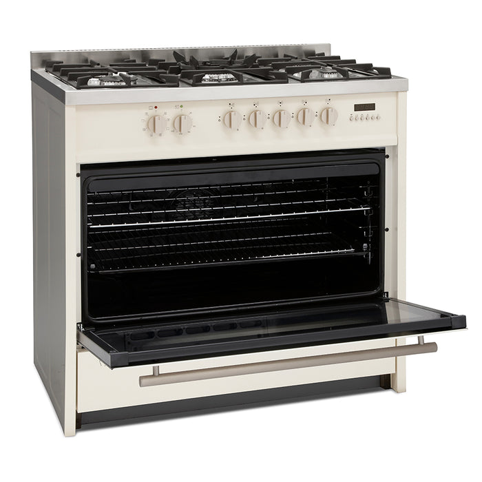 Montpellier MR95DFCR 90cm Dual Fuel Range Cooker in Cream