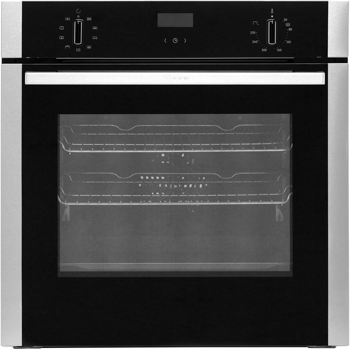 Neff N50 B1ACE4HN0B Built-in Single Electric Oven in Black/Stainless Steel