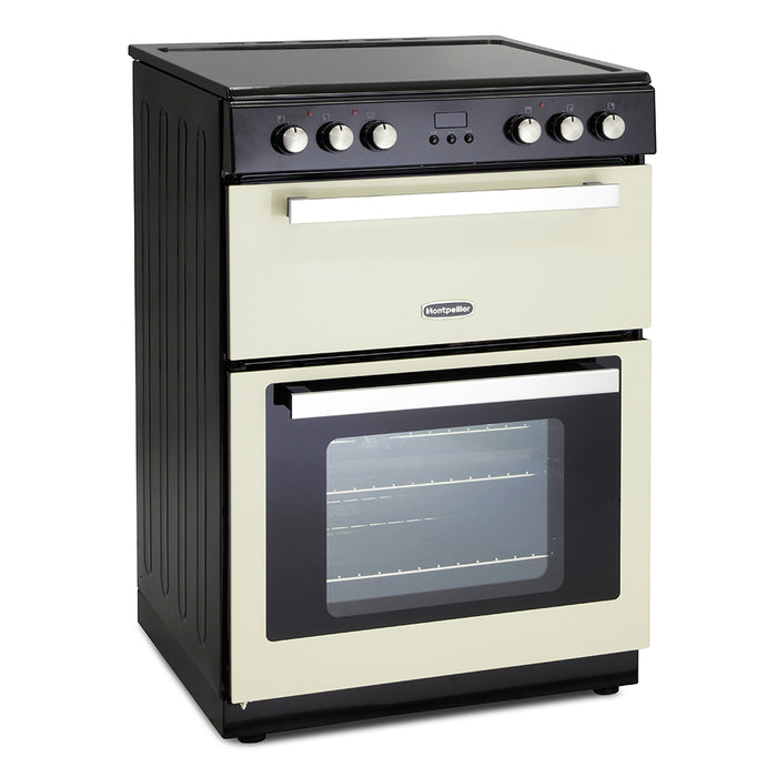 Montpellier RMC61CC 60cm Double Oven Electric Mini Range Cooker in Cream