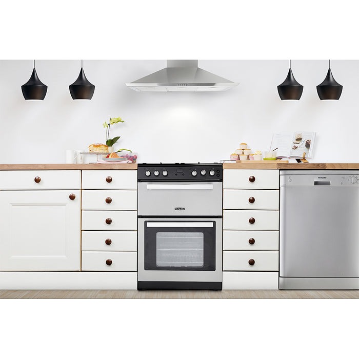 Montpellier RMC61GOX 60cm Mini Range Gas Cooker in Stainless Steel