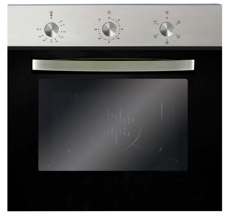 Montpellier SBFO59X Single Built-in Fan Oven in Stainless Steel