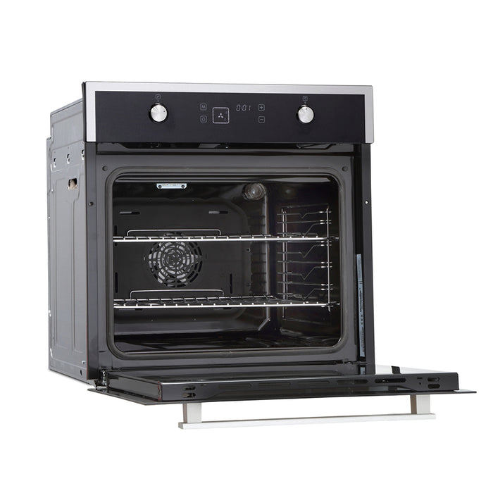Montpellier SFO67MBX Single Built-in TruFan™ Electric Oven in Black