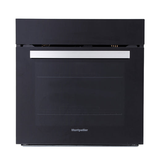 Montpellier SFO68MFB Single Built-in Touch Screen Electric Oven in Black
