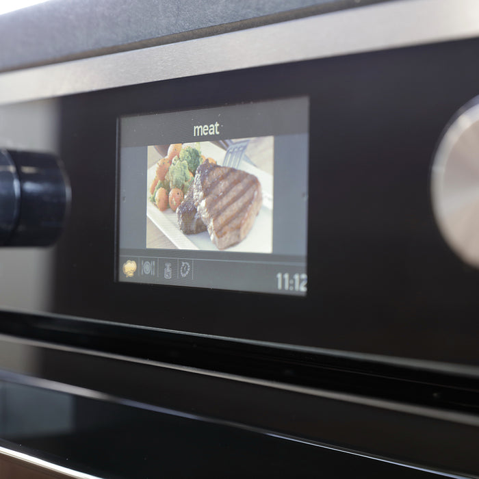 Montpellier SFOS78MBX Single Electric Oven with Steam Clean Programme