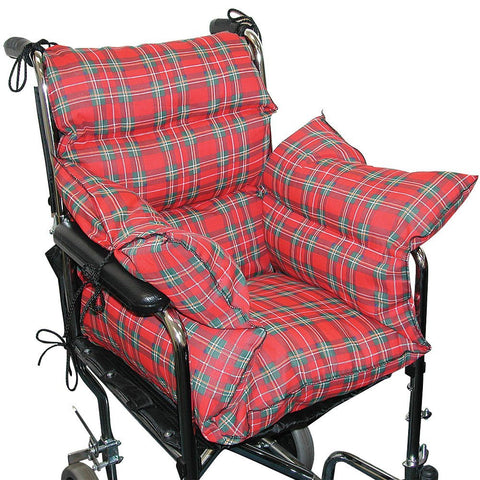 Plaid Comfort Cushion Soft Wheelchair Accessory Helps Prevent Pressure Sores