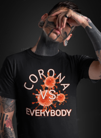 CORONA VS EVERYBODY (code Red) Heavy Cotton  Adult T-Shirt