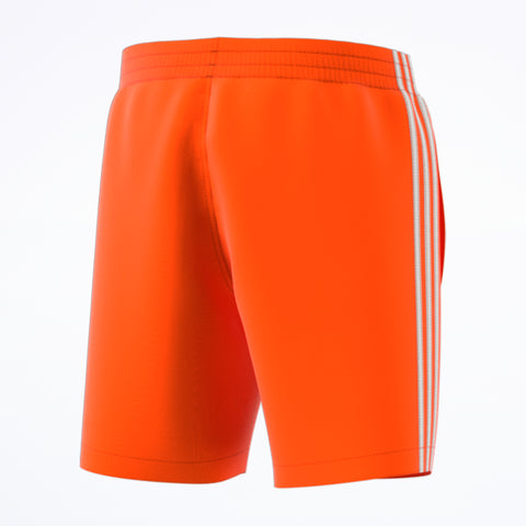adidas 3-Stripes Swim Shorts orange