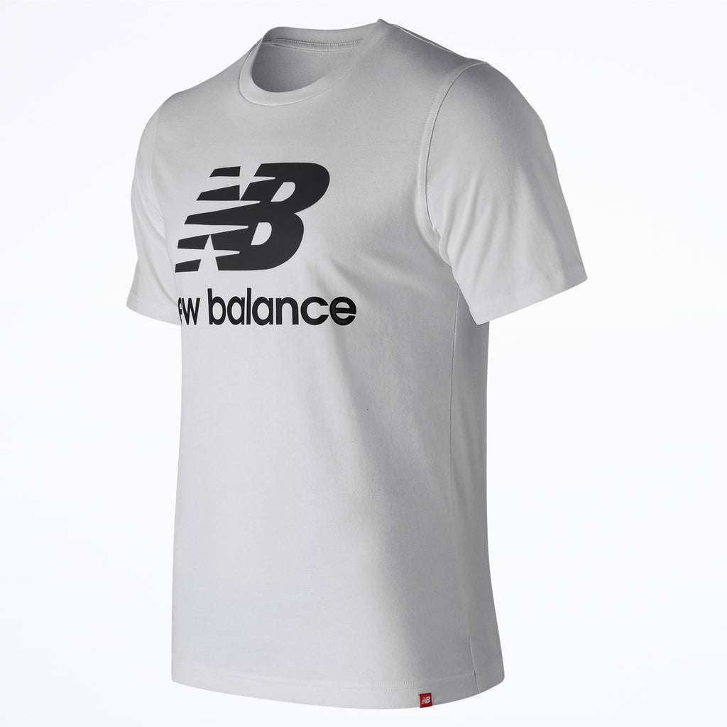 New Balance Essential Stacked Logo Tee MT91546 WT