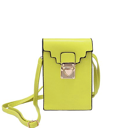 Cross body Phone Pouch - Citron