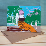 Greeting Card - Greetings from Plymouth Ice Cream Cone