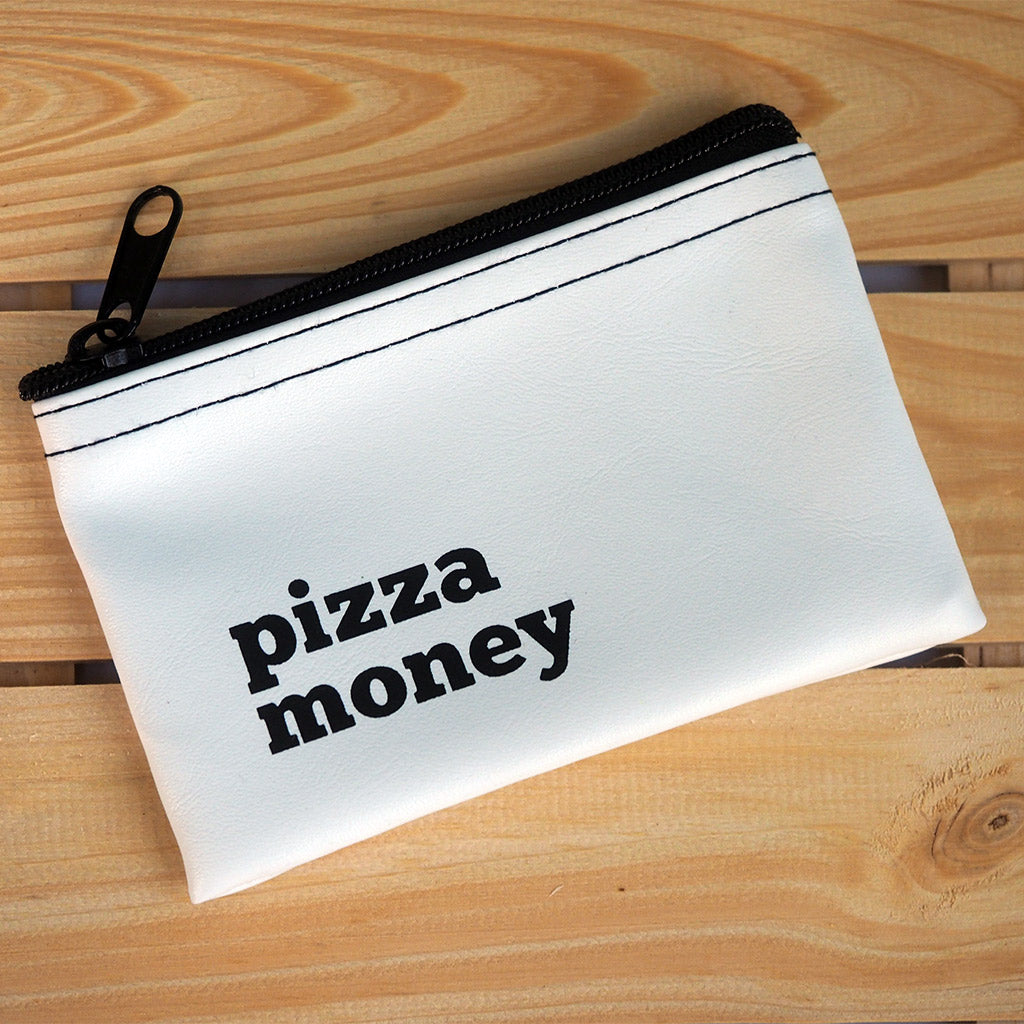 Vinyl Zippered Pouch - Pizza Money
