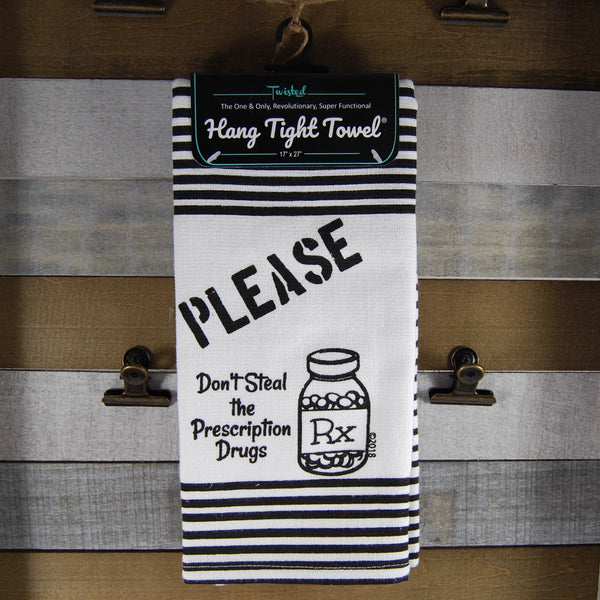 Please Don't Steal Twisted Terry Towel