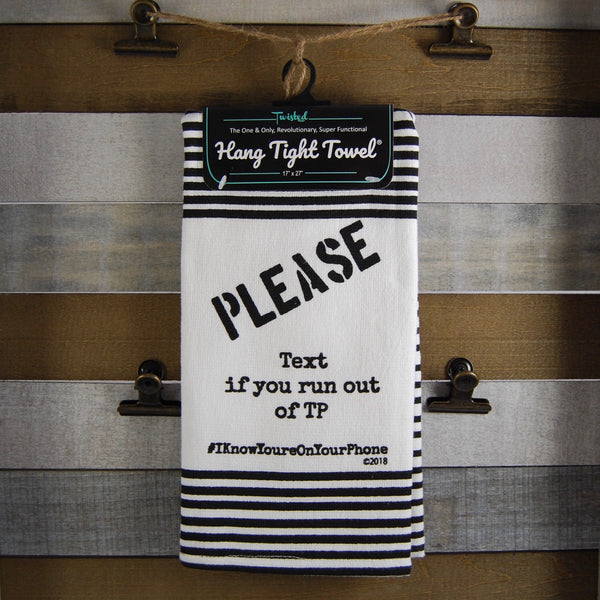 Please Text Twisted Terry Towel