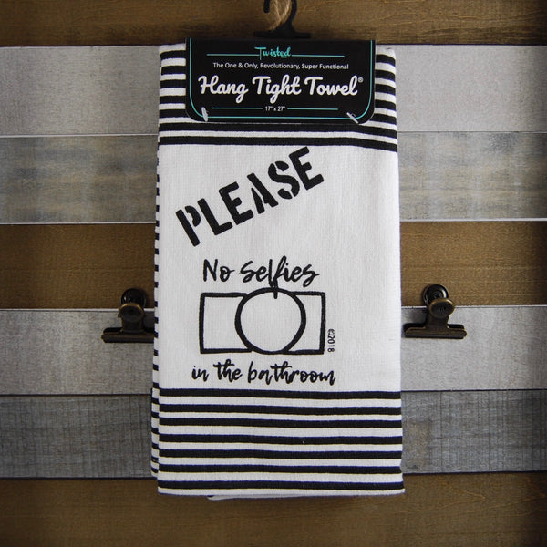 Please No Selfies Twisted Terry Towel