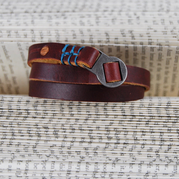 Rustico Vagabond Leather Wrap Bracelet
