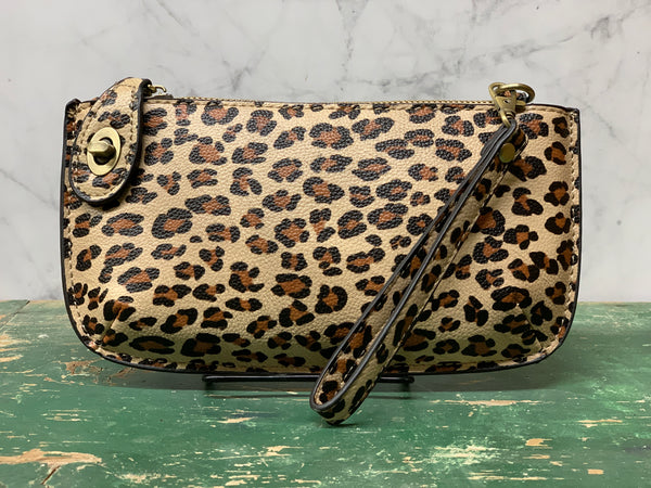 Cross Body Wristlet - Leopard