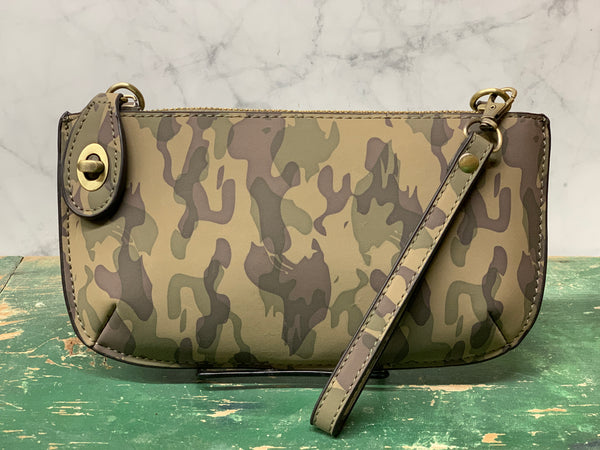 Cross Body Wristlet Clutch -  Camo