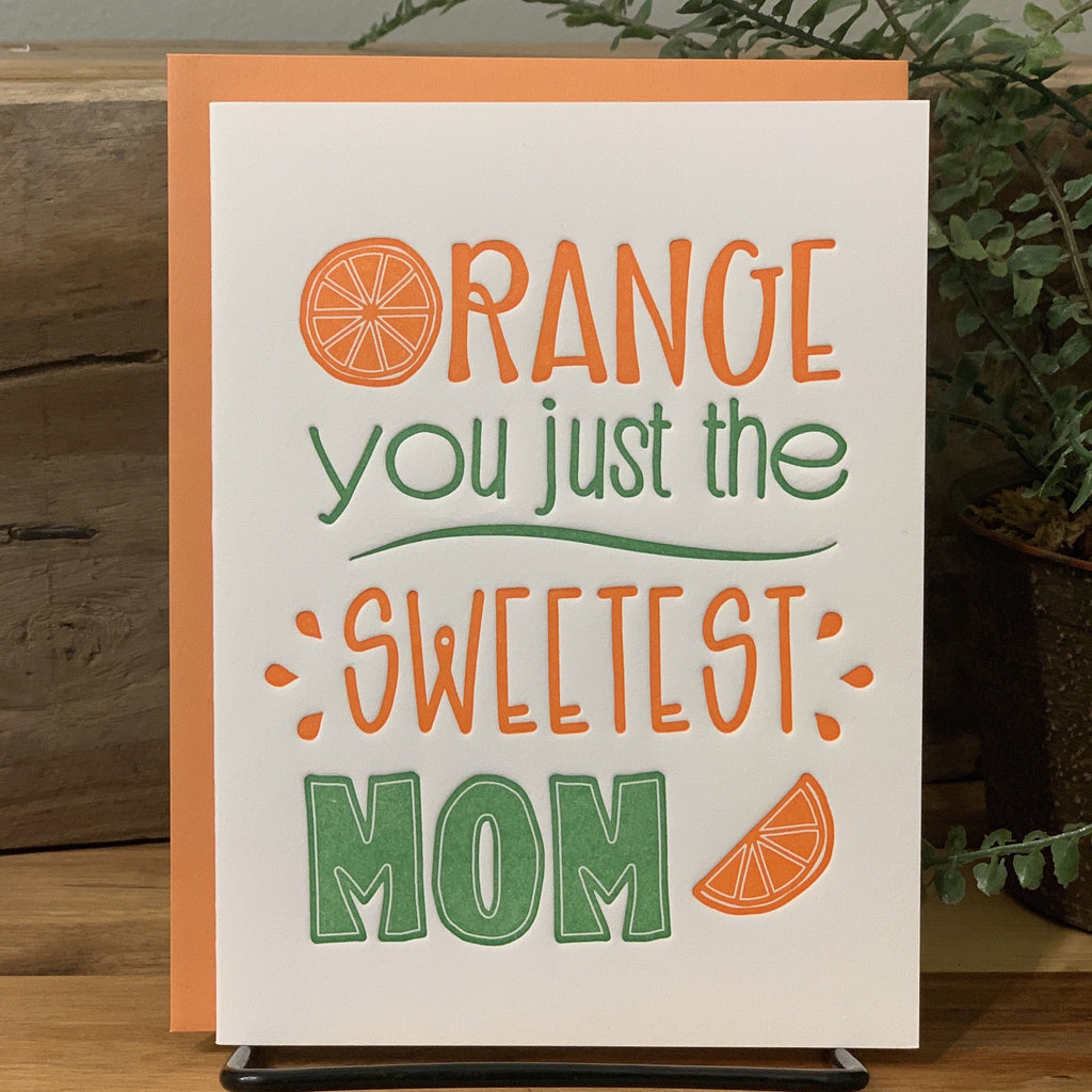 Mother's Day Card - Orange