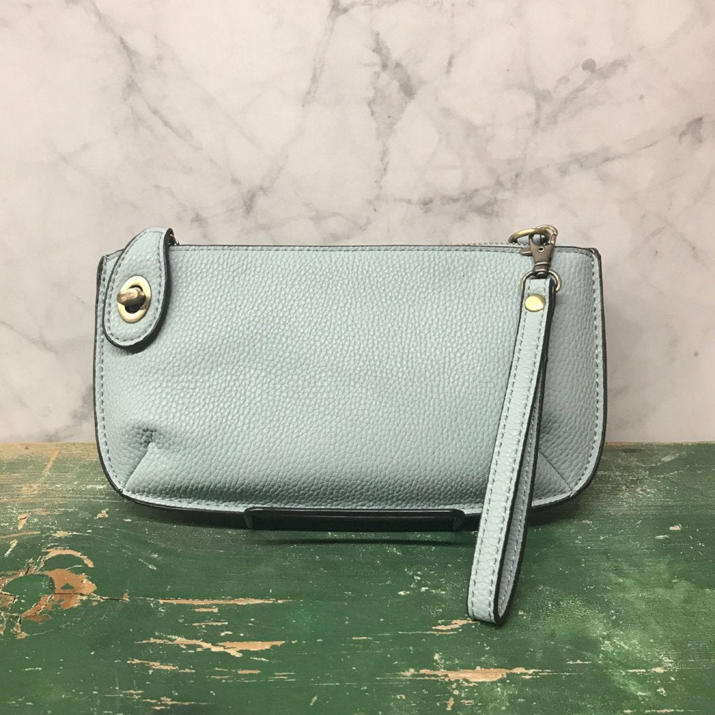 Cross body Wristlet Clutch - Pale Blue