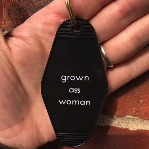 Retro Keychain - Grown Woman