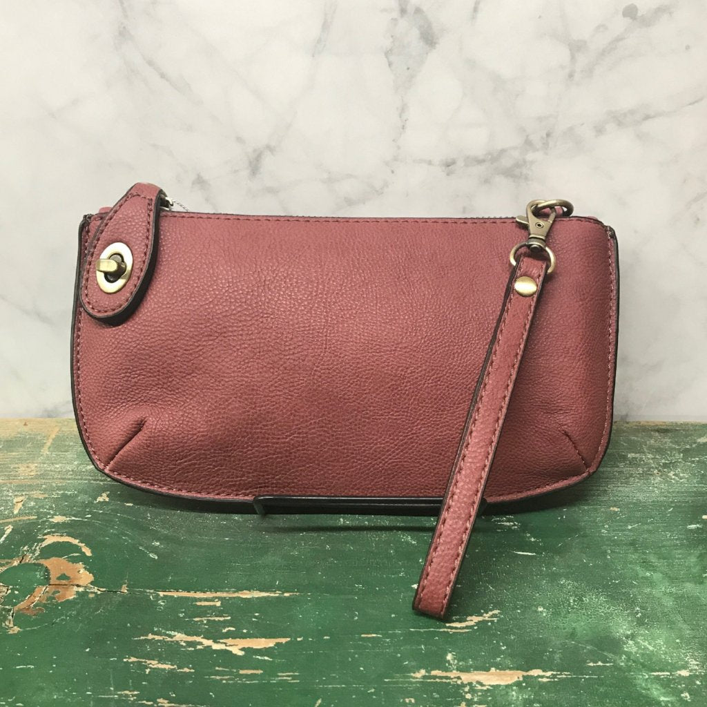 Cross body Wristlet Clutch - Raspberry Mousse