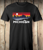 Michigan Lake Unisex Tee - Black Tee