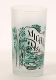 Retro Michigan Frosted Glass