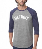 Detroit 3/4 Baseball Sleeve Tee