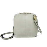 Classic Clam Crossbody - Cool Grey