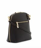 Classic Clam Crossbody - Black